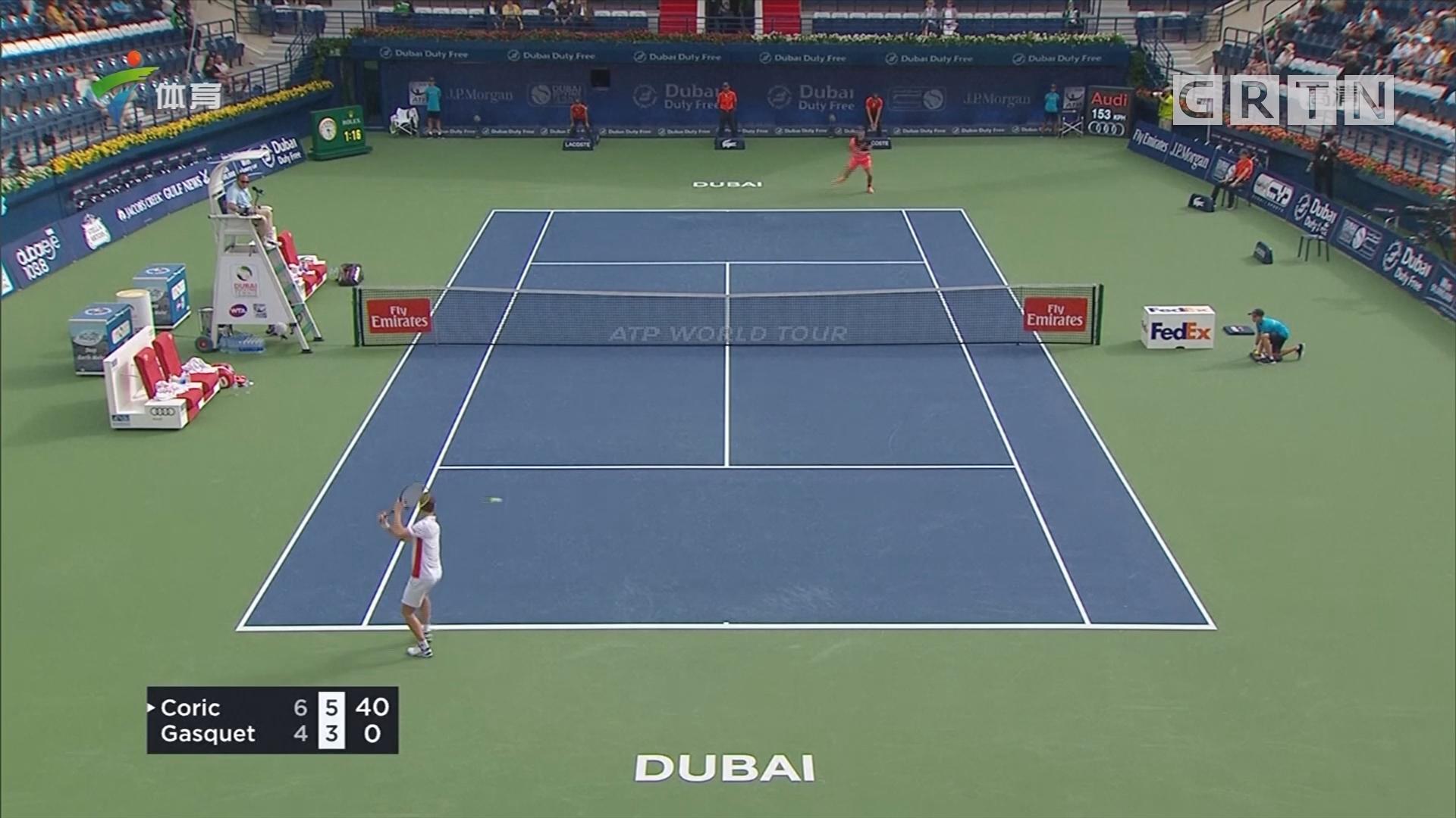 ATP迪拜赛 迪米特洛夫爆冷止步首轮