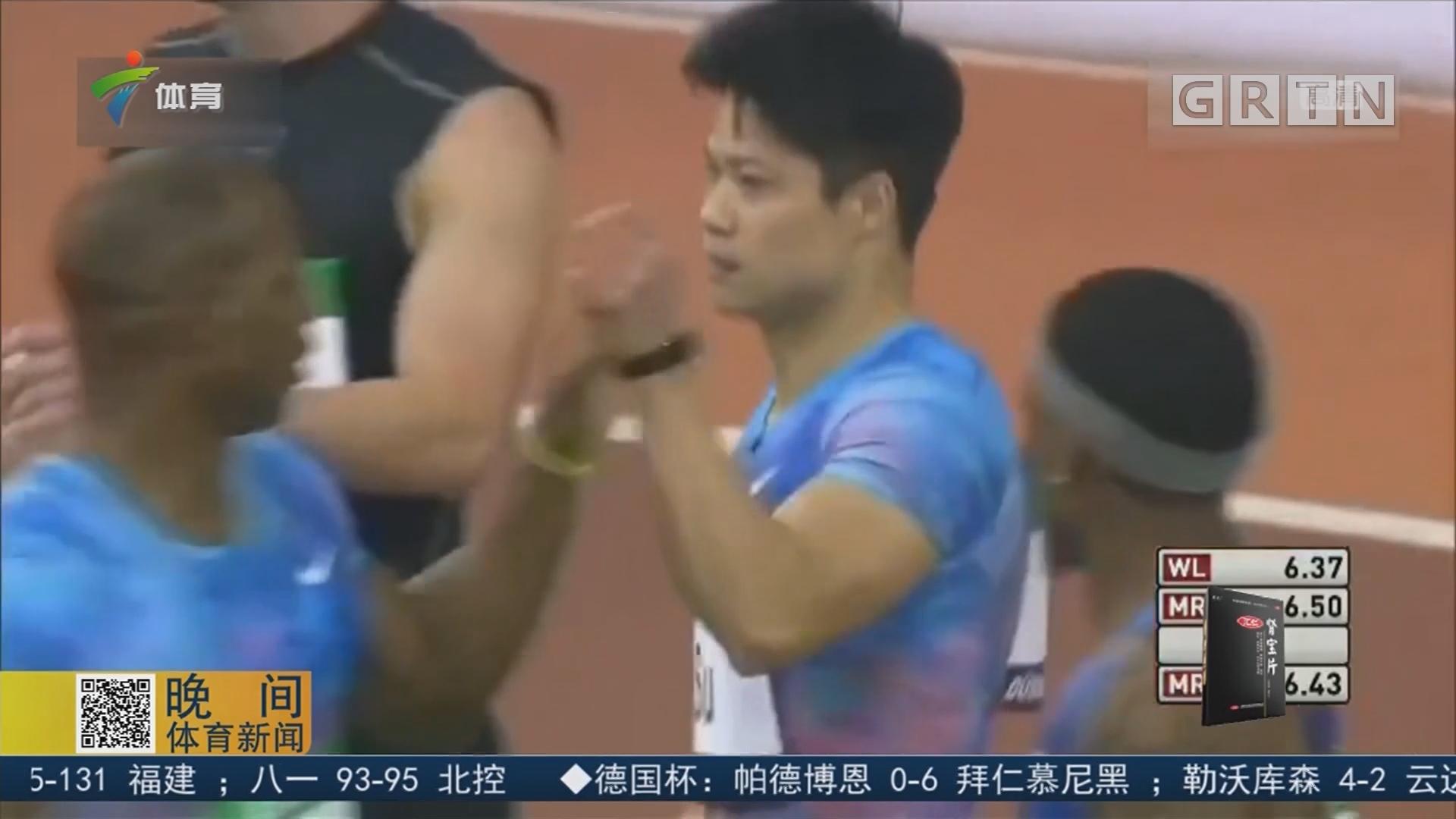 苏炳添再破60米亚洲纪录 6秒43成历史第五