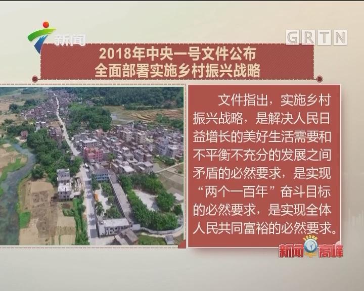 2018年中央一号文件公布 全面部署实施乡村振兴战略