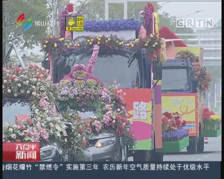 佛山:百万枝鲜花装点 去高明看花车巡游