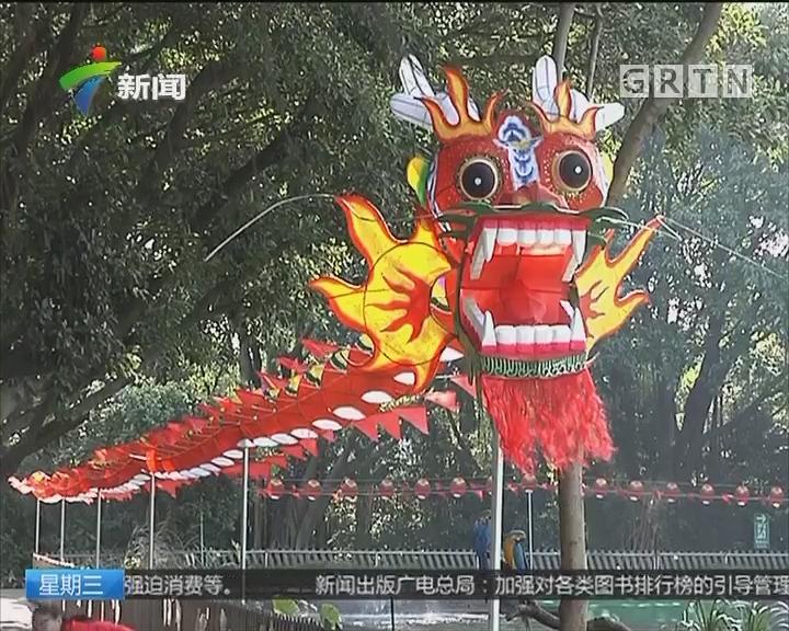 广州长隆飞鸟乐园风筝节 长达百米的龙形风筝惊艳亮相