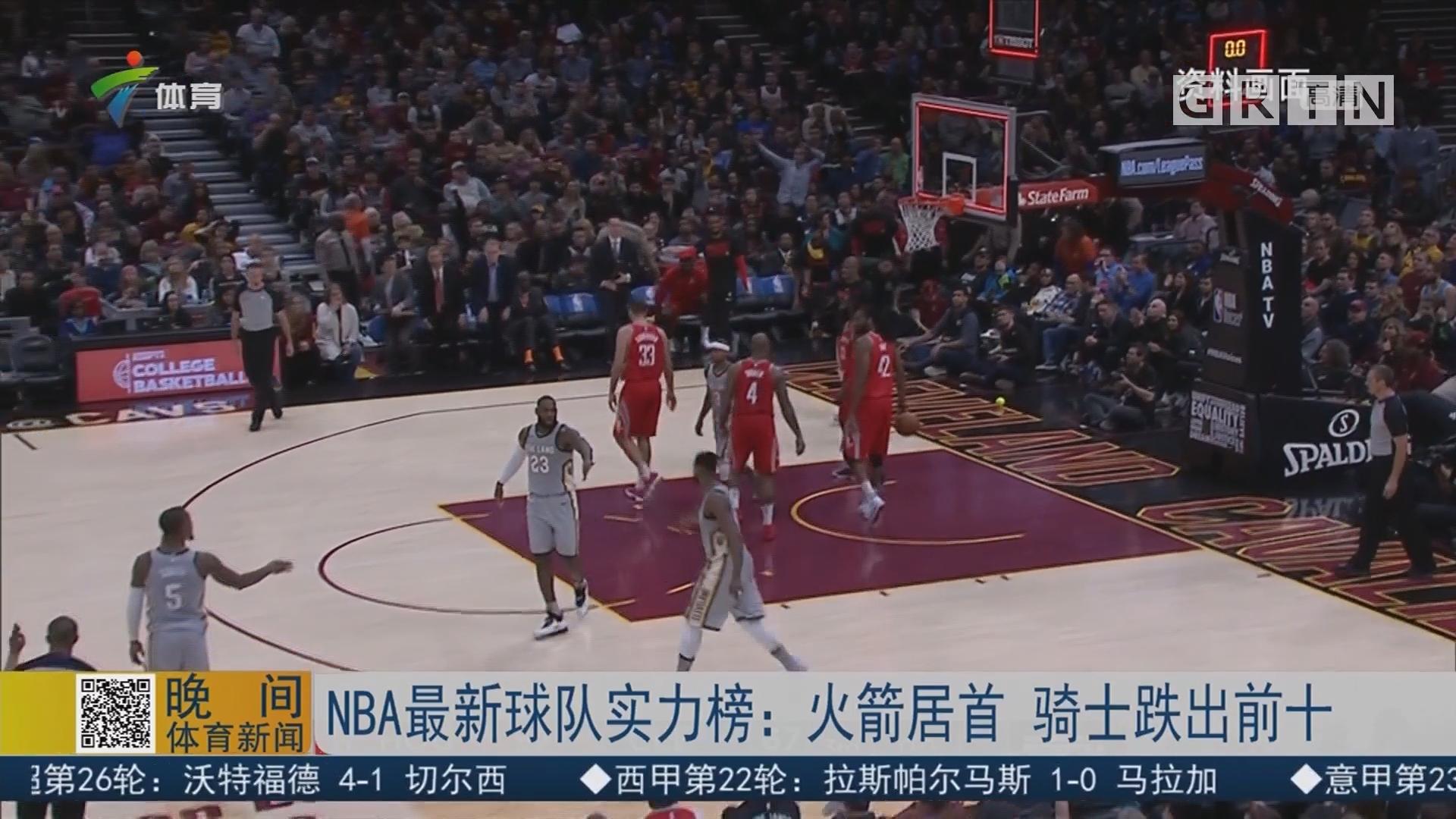 NBA最新球队实力榜:火箭居首 骑士跌出前十