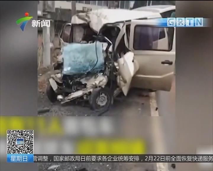 湖北:江西籍面包车与拖挂车相撞 10死1伤