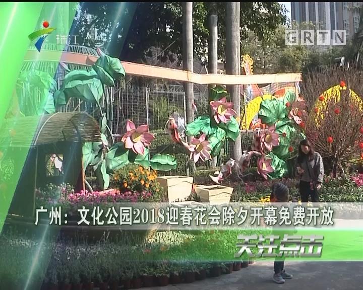 广州:文化公园2018迎春花会除夕开幕免费开放