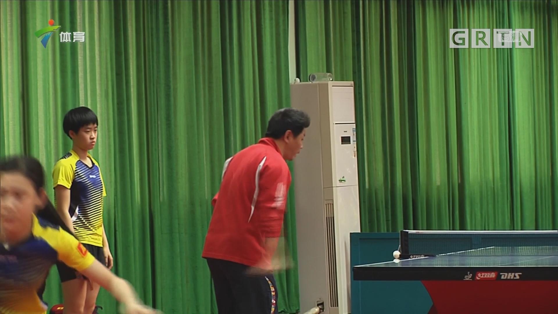 广东乒乓球队冬训忙
