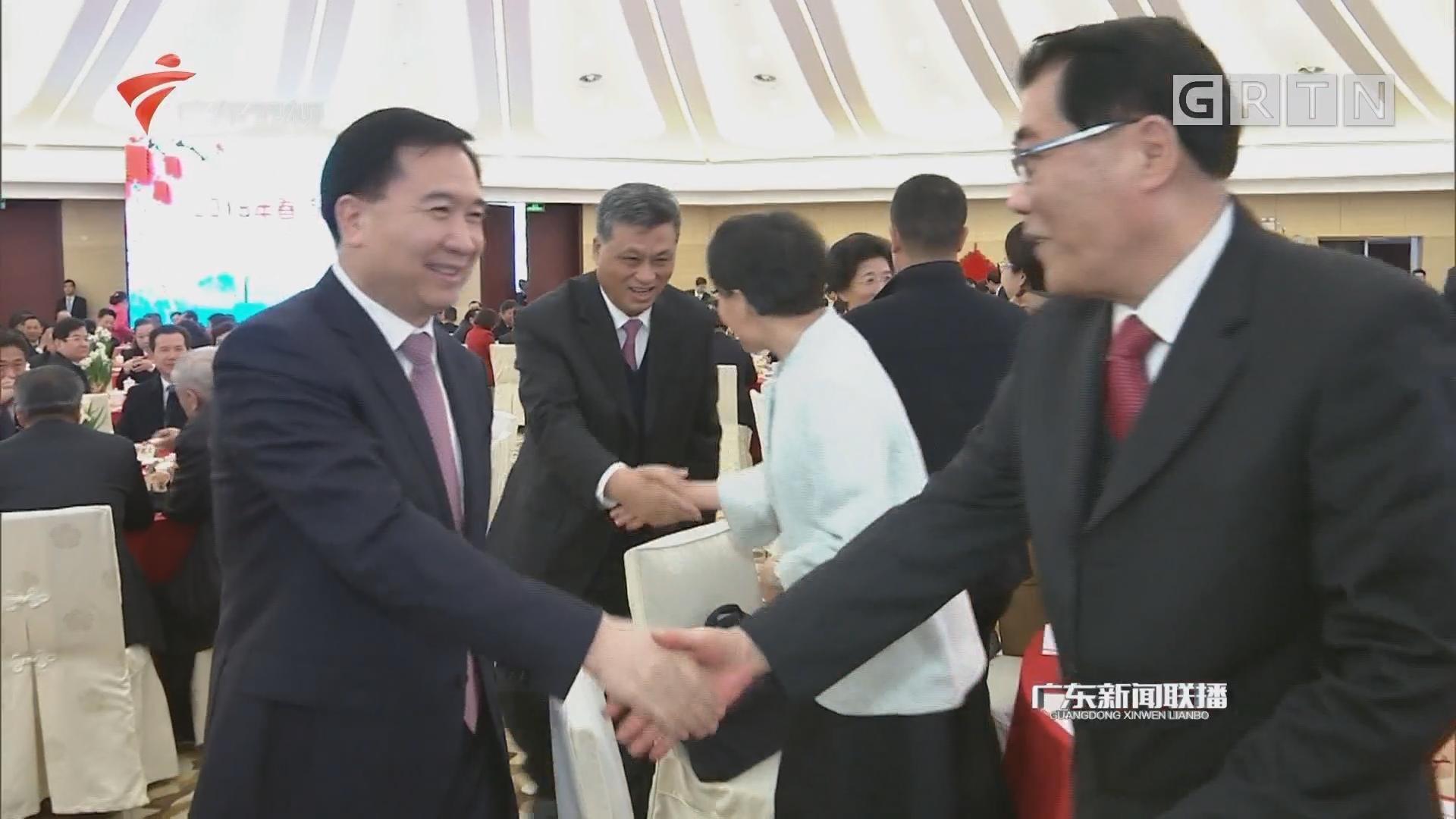 广东省春节团拜会在广州举行 李希马兴瑞李玉妹王荣出席