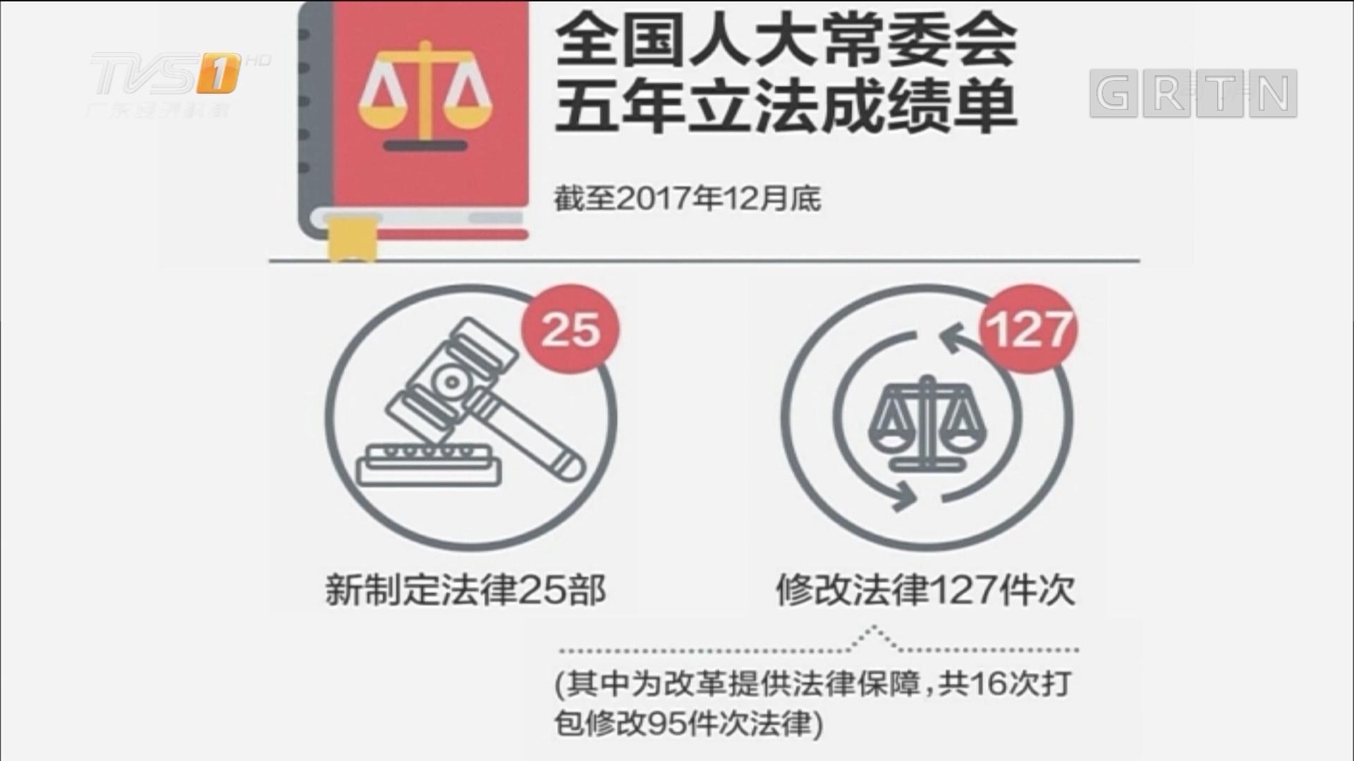 全国人大常委会五年立法规划完成逾七成
