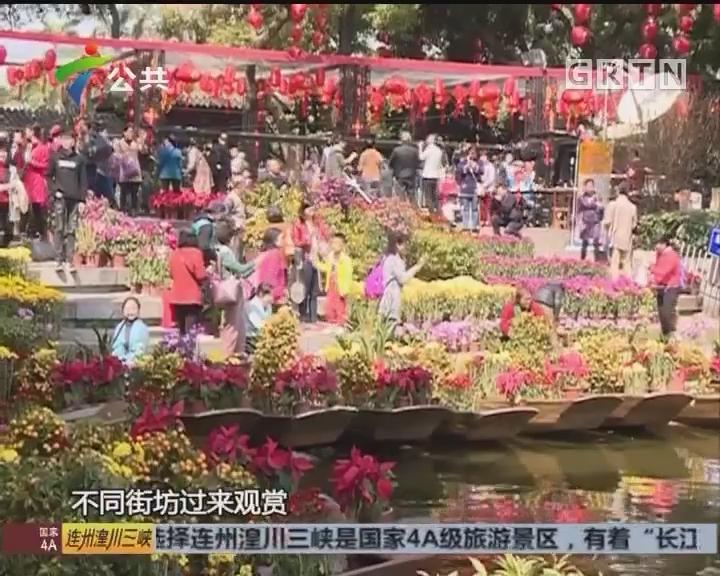 广州水上花市开市 大批市民前来观赏
