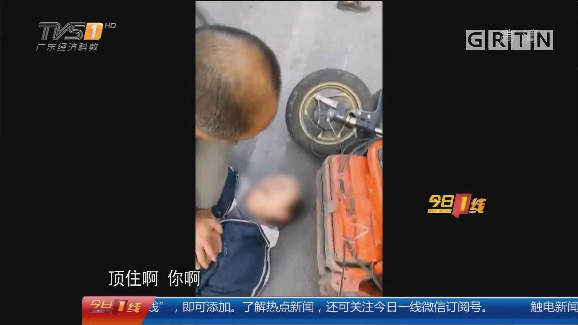 """系列专栏""""温度"""":珠海 男子车祸后晕死 路人紧急抢救"""