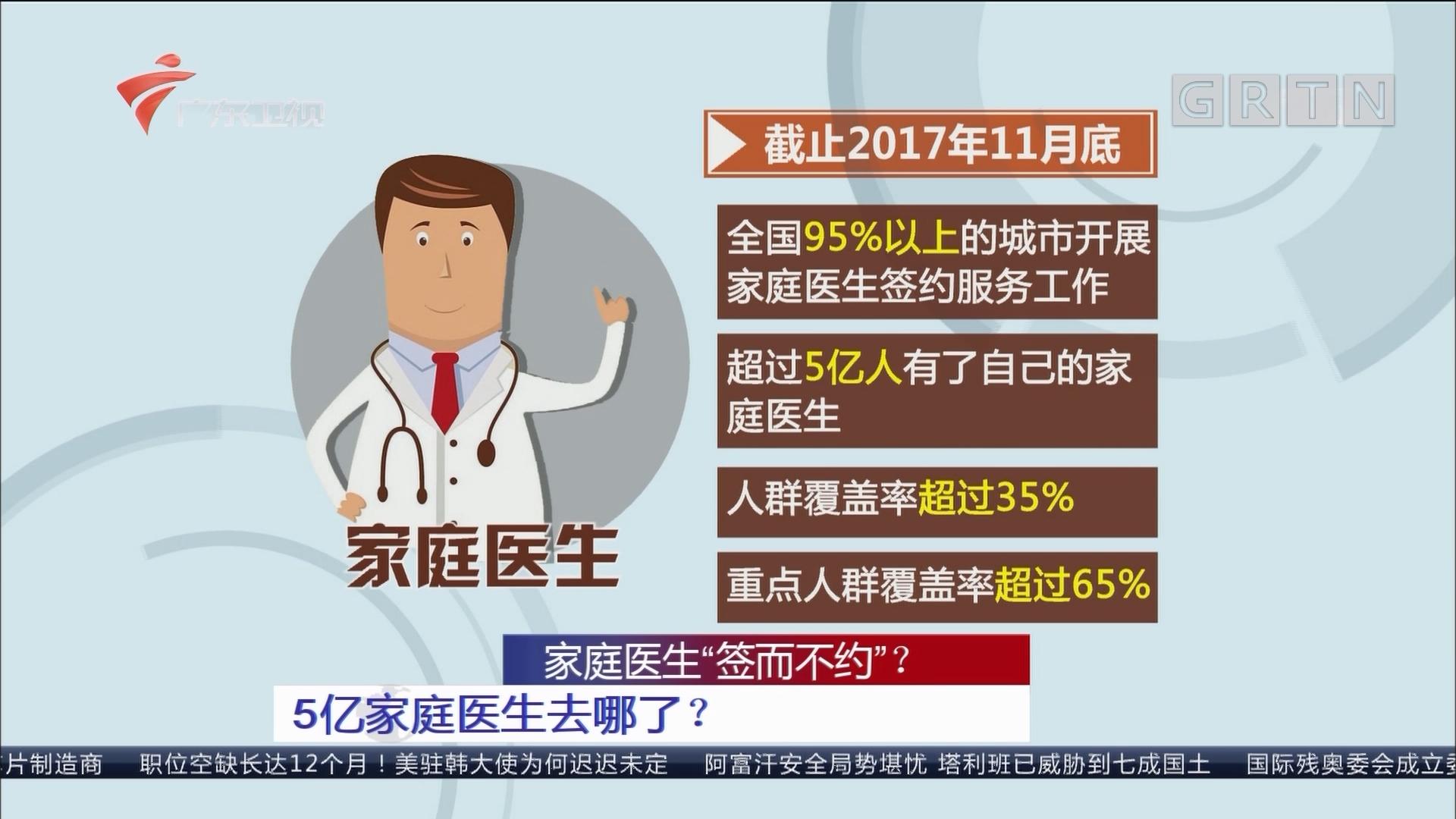 """家庭医生""""签而不约"""":5亿家庭医生去哪了?"""