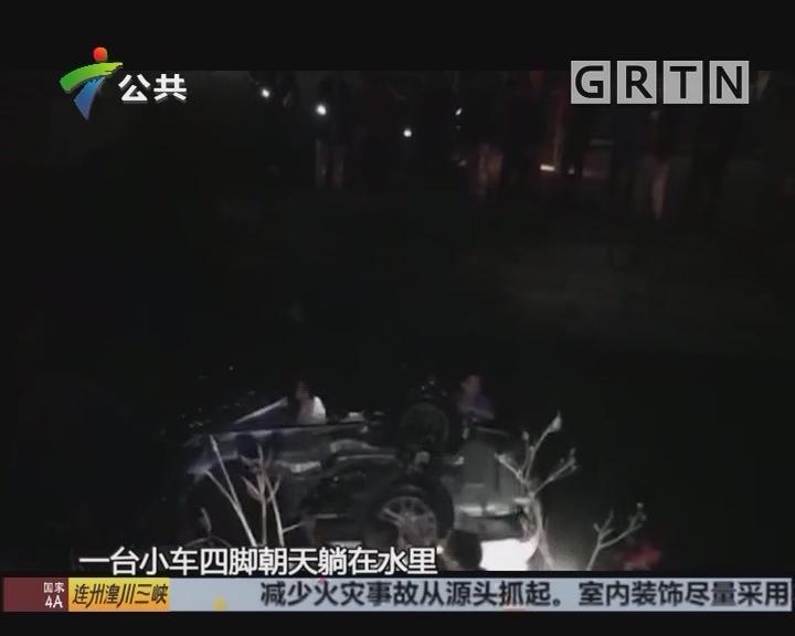 顺德:女子深夜涌边停车 不慎坠入水中