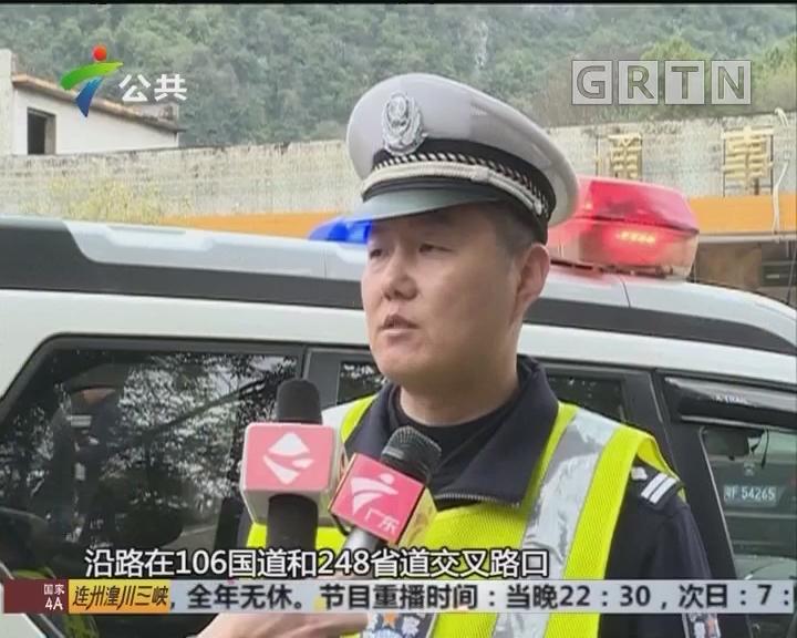 韶关:警车闹市中逆行 只为护送受伤男童