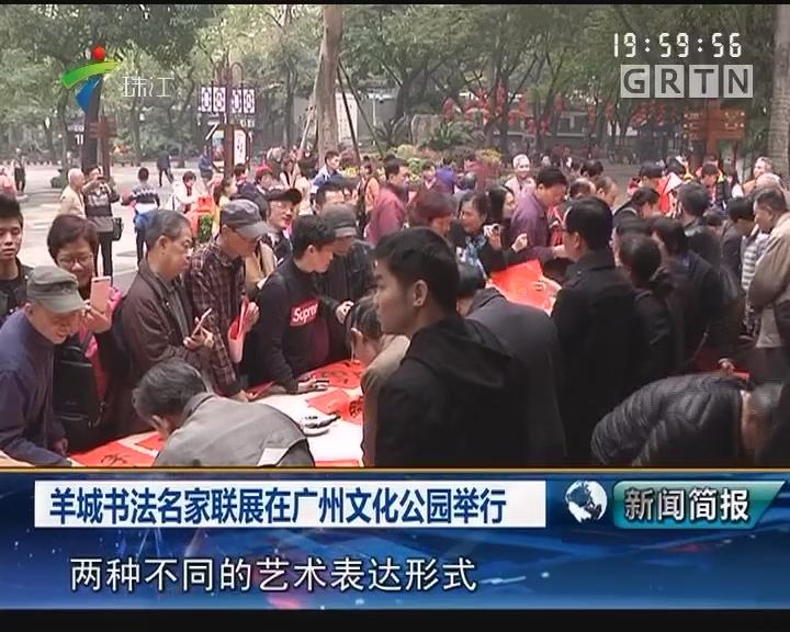 羊城书法名家联展在广州文化公园举行