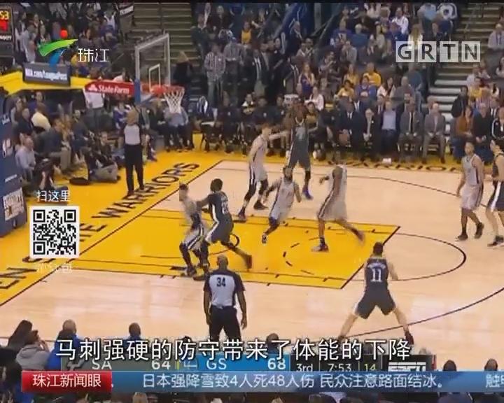 NBA:汤神发飙 勇士虐马刺捍卫榜首