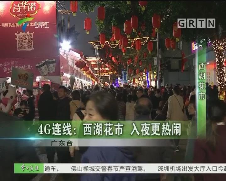 4G连线:西湖花市 入夜更热闹