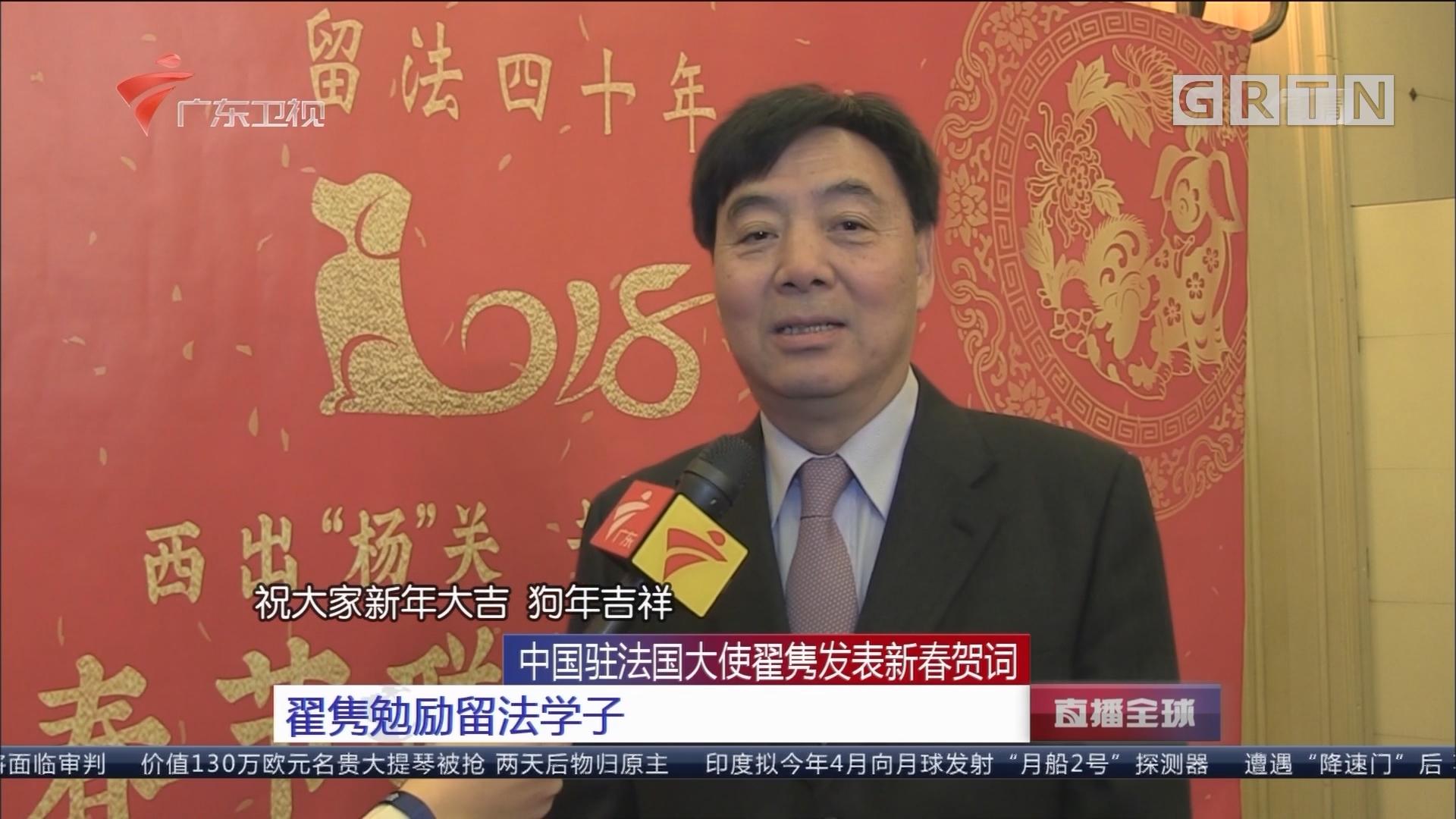中国驻法国大使翟隽发表新春贺词 翟隽勉励留法学子