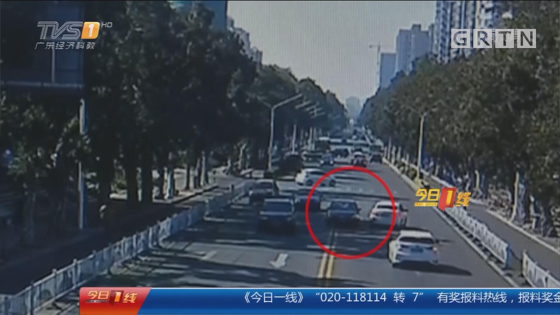 珠海:小车遇查车逃窜 先撞交警再撞路人