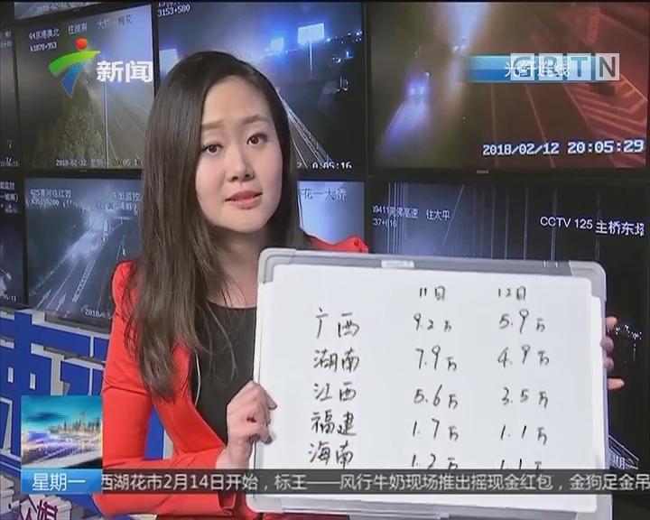 春运进行时:省内高速车流全线回落