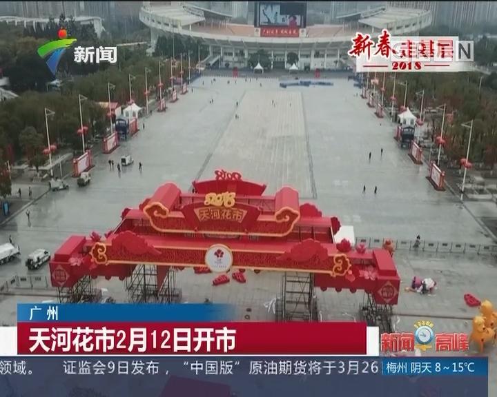广州:天河花市2月12日开市