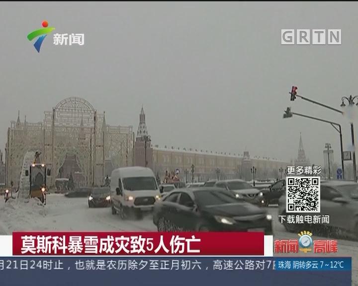 莫斯科暴雪成灾致5人伤亡
