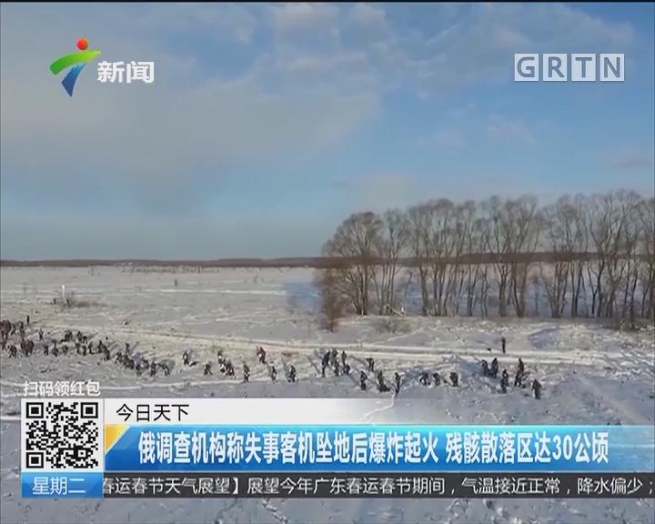 俄调查机构称失事客机坠地后爆炸起火 残骸散落区达30公顷