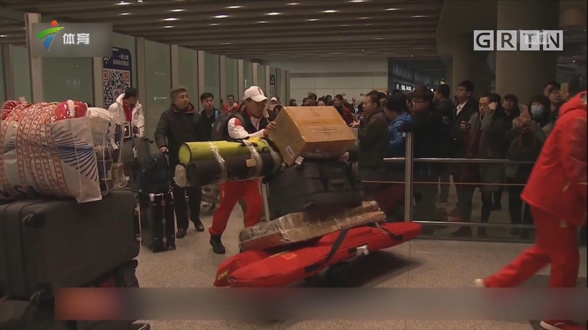 中国体育代表团部分队伍昨日回京