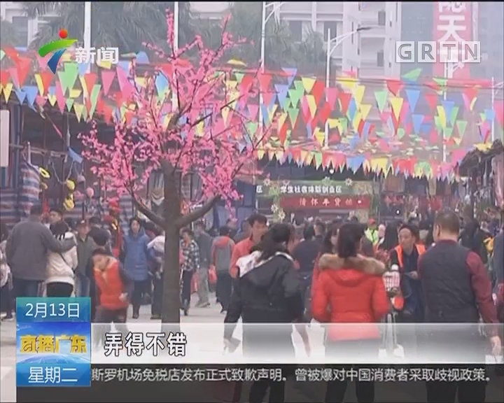 肇庆:迎春花市喜迎客 百花争艳贺新年