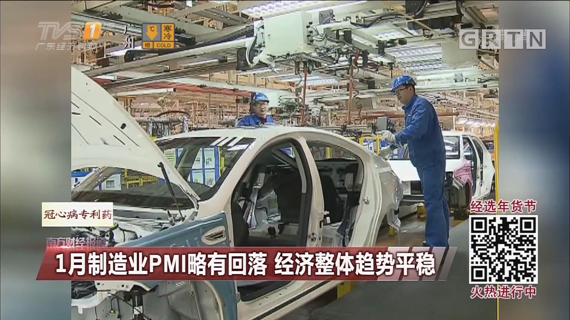 1月制造业PMI略有回落 经济整体趋势平稳