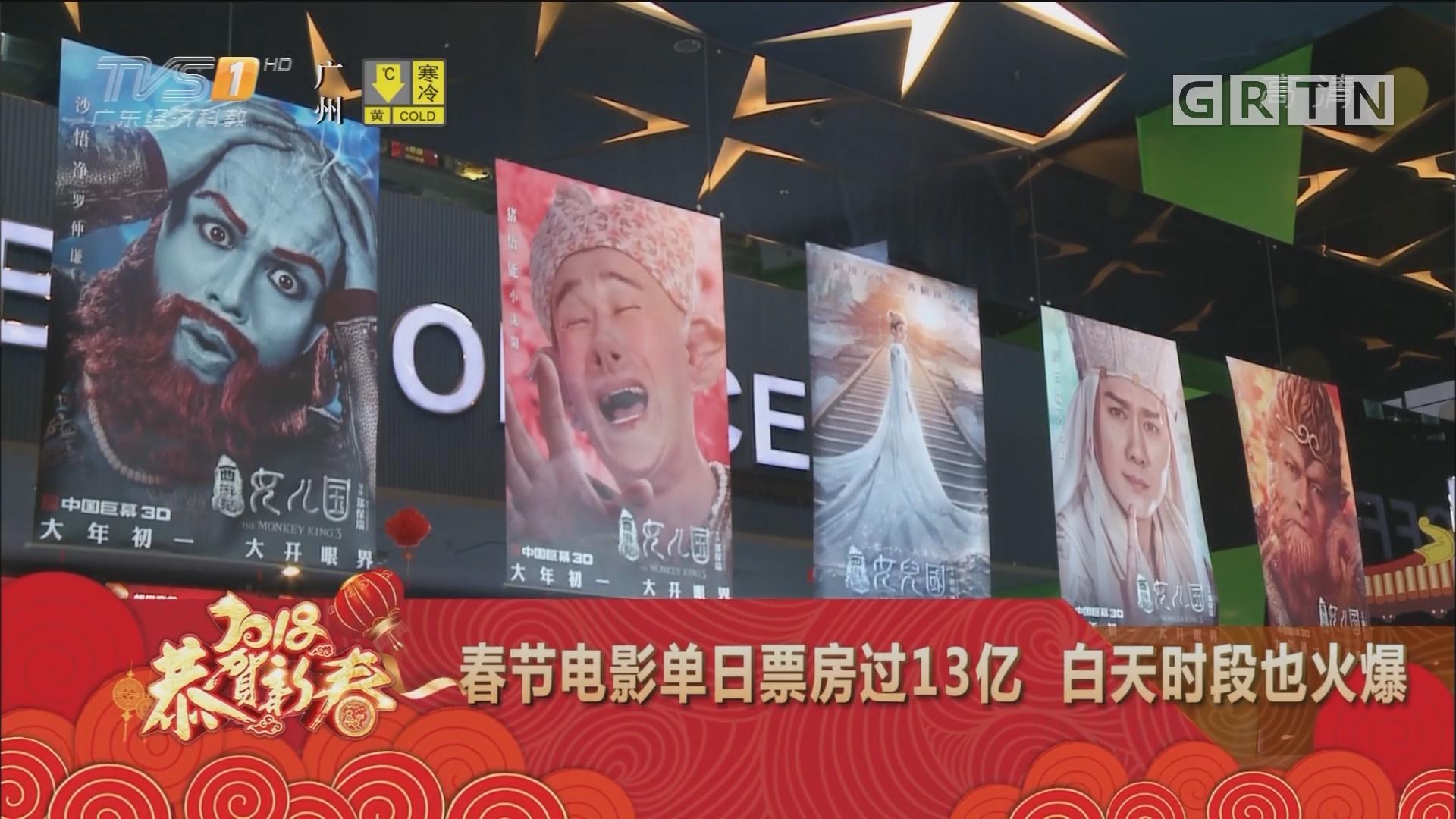 春节电影单日票房过13亿 白天时段也火爆