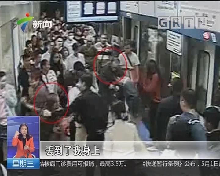 广州:边防官兵路见不平 制服嚣张小偷