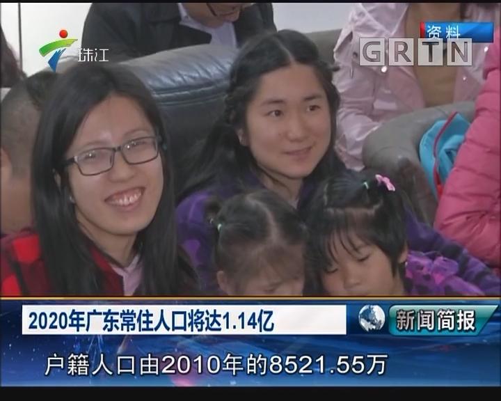 2020年广东常住人口将达1.14亿