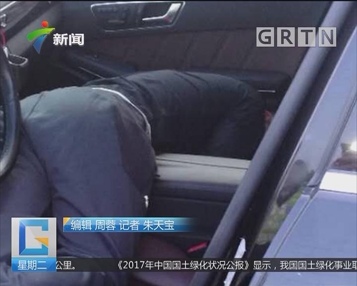 """东莞桥头:醉驾途中犯困睡着 交警唤""""起床"""""""