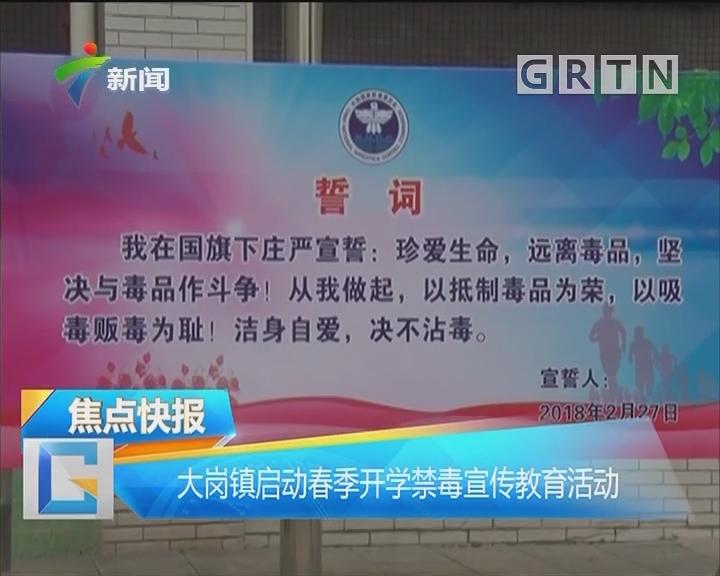大岗镇启动春季开学禁毒宣传教育活动