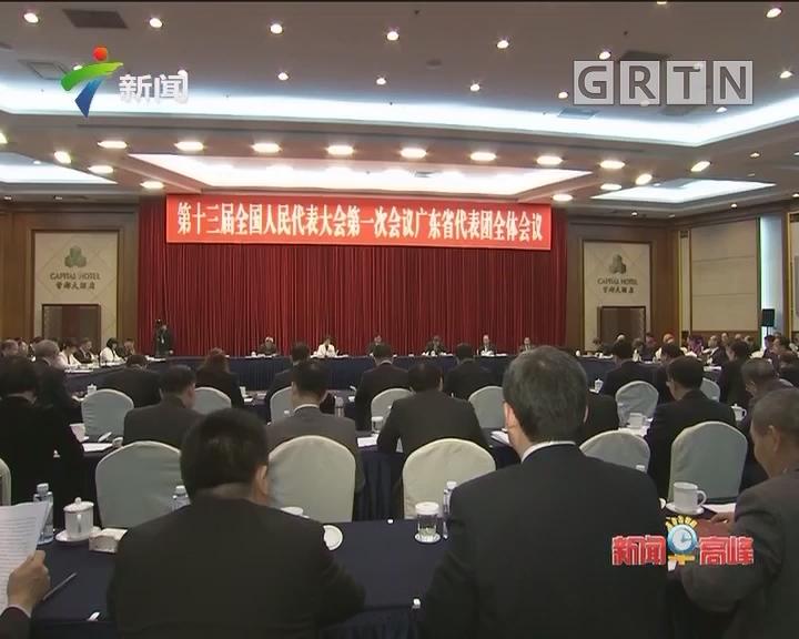 广东代表团召开全团会议 审议政府工作报告