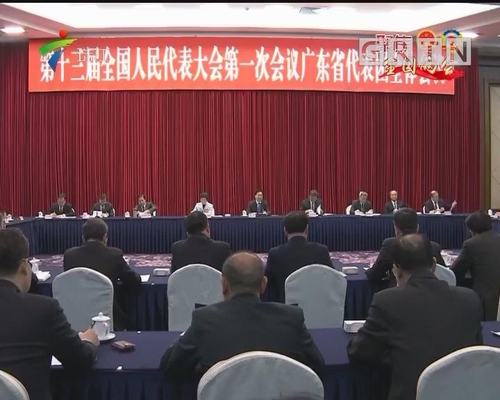 广东代表团举行全体会议学习贯彻习近平总书记重要讲话精神
