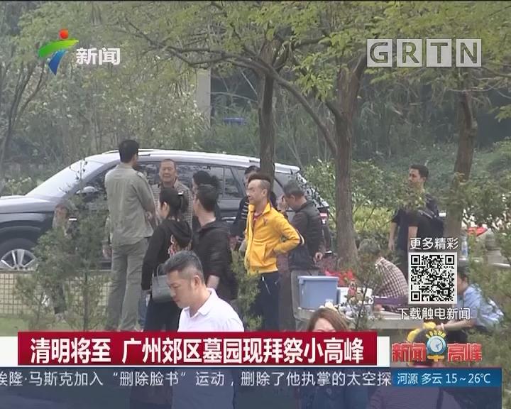 清明将至 广州郊区墓园现拜祭小高峰