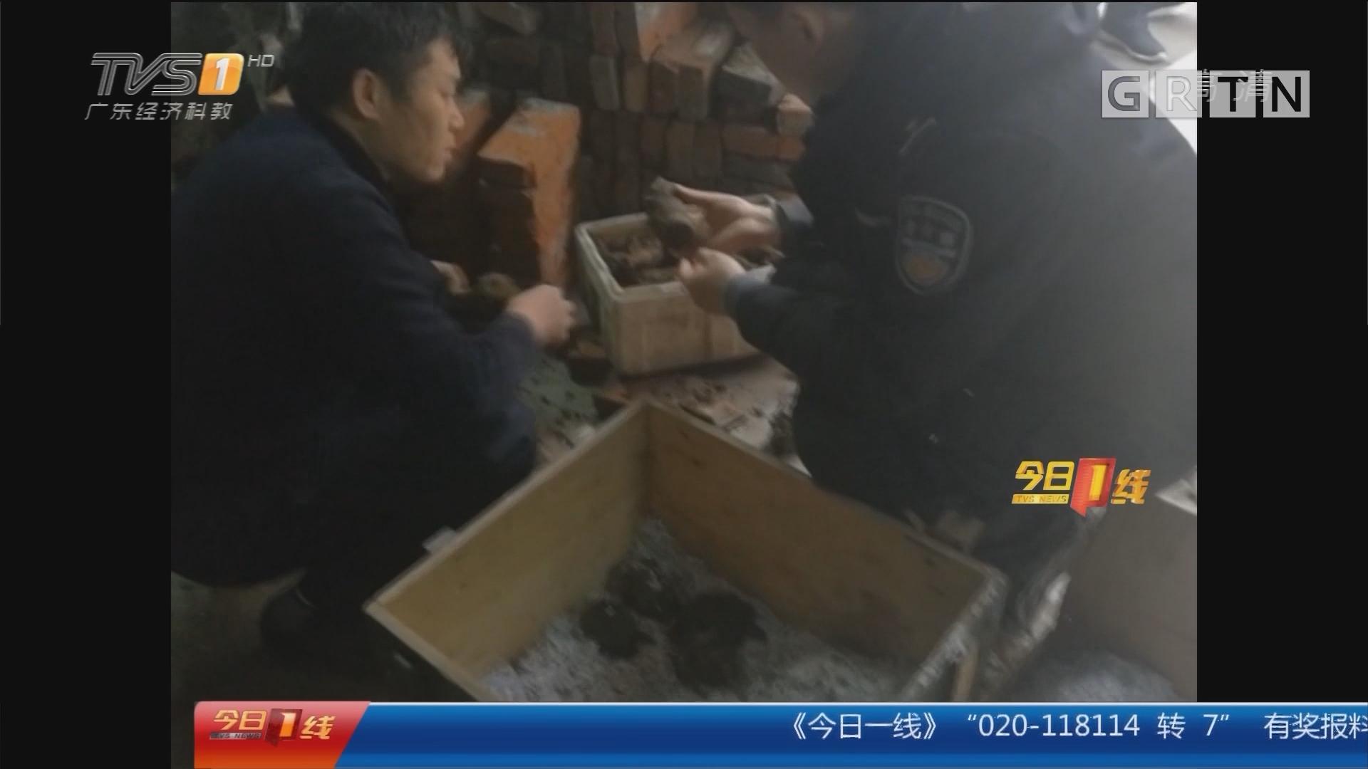 江苏镇江:居民后院建厕所 挖出炮弹