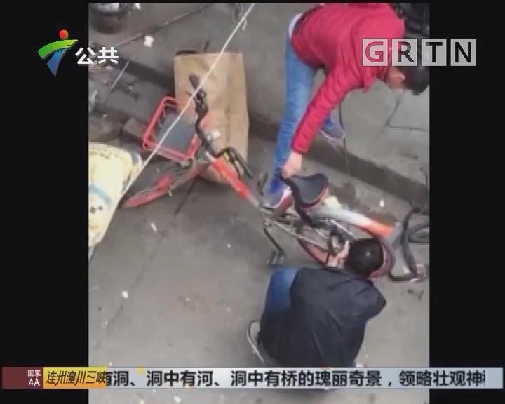 街坊报料:男子使用共享单车 竟用电锯开锁
