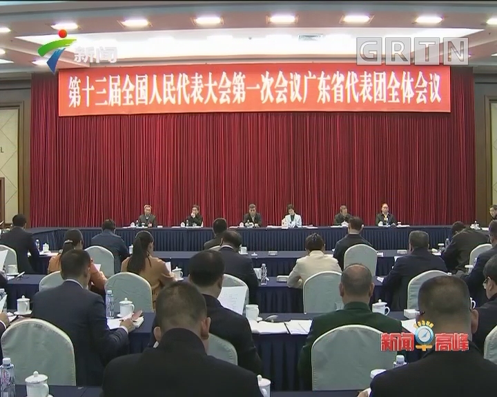 全国人大会议广东代表团召开全体会议 推选团长、副团长