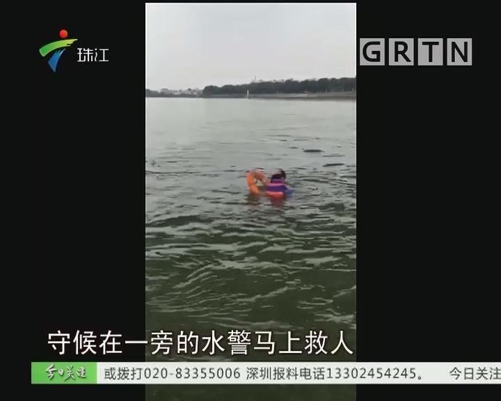 顺德:女子跳桥轻生 上百警力营救