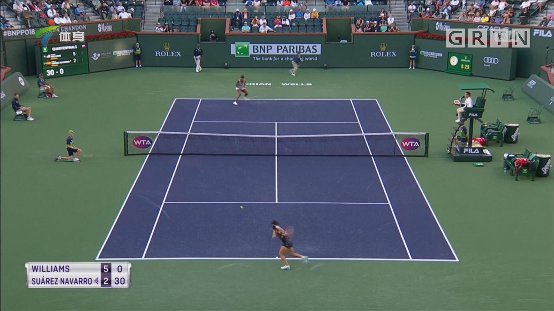 WTA 印第安维尔斯赛 大威轻松晋级四强