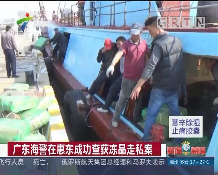 广东海警在惠东成功查获冻品走私案