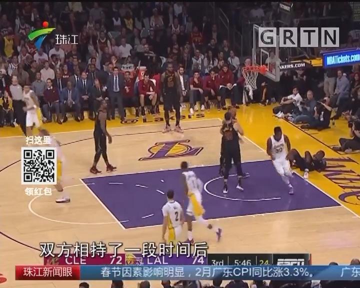 NBA:骑士不敌湖人遭两连败