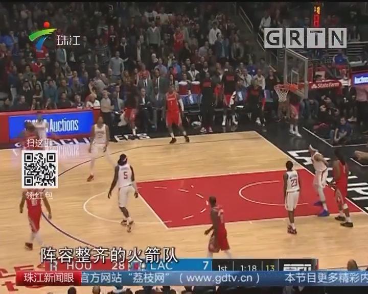 NBA:西部双雄挺进 火箭联盟第一