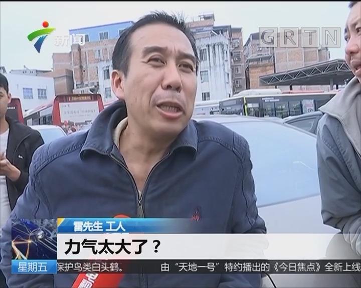 广西南宁:大黄牛闹市狂奔 民警工人联手制服