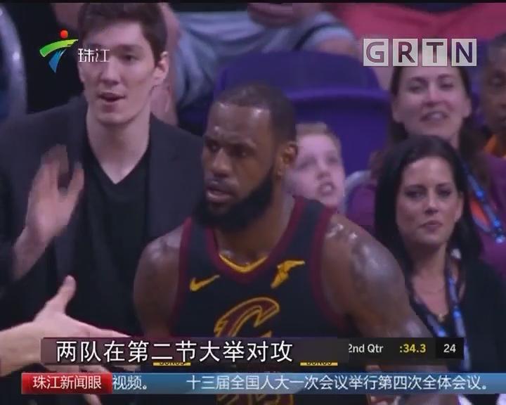 NBA:詹皇三双提前下班 骑士大胜太阳
