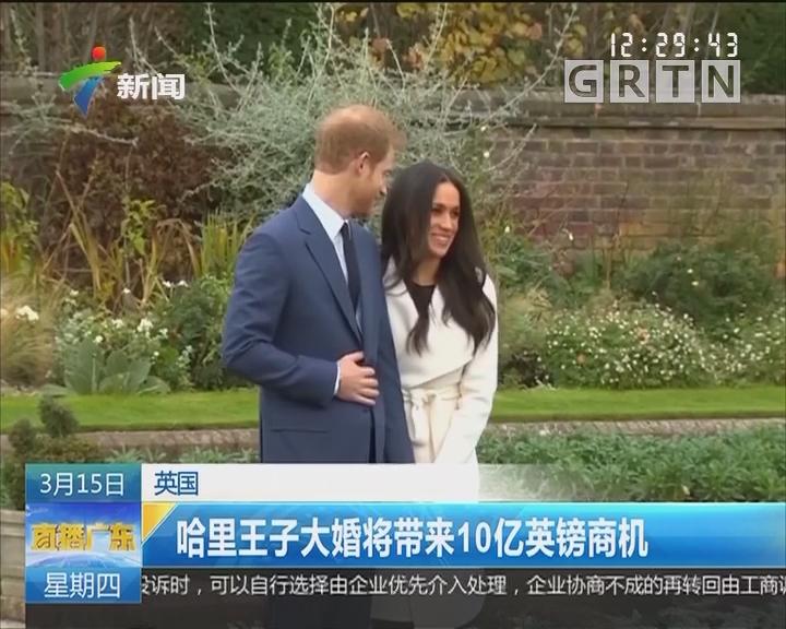 英国:哈里王子大婚将带来10亿英镑商机