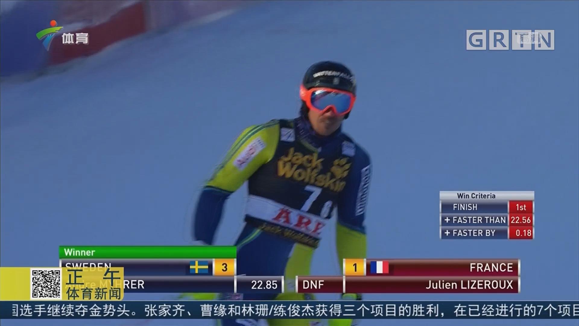 高山滑雪世界杯团体赛 瑞典队夺冠