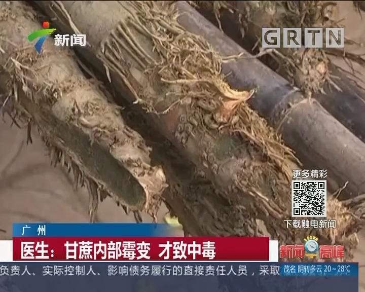 广州:清明蔗毒过蛇? 红心霉变甘蔗勿食!