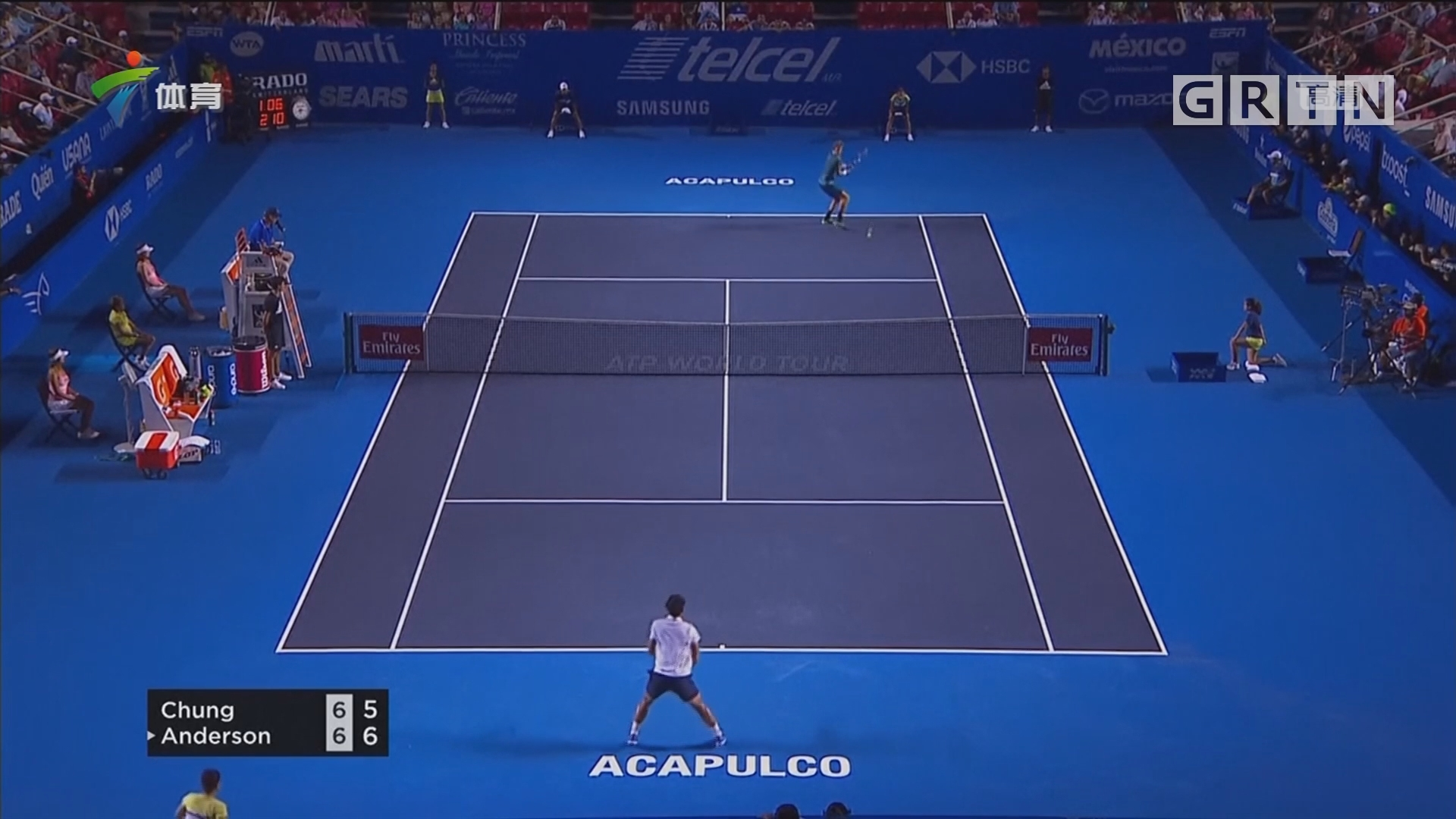 ATP阿卡普尔科赛 德郑泫不敌安德森 遭到淘汰